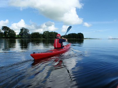 Sea kayak on the River Moy Estuary, Ballina